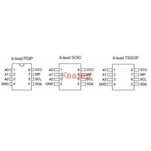 24C02 (smd) Two-Wire Serial EEPROM 2K (256 X 8)