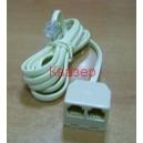 cable-plug-rj11-4c-6p-2x-socket-rj11-4c-6p-white
