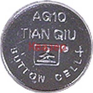 БАТЕРИЯ TIAN QIU AG10, 389A, LR1130, LR54