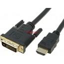 кабел DVI 24+1M/HDMI 19PINM 3м
