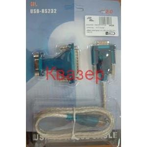 Кабел преходник от USB към RS-232 с DB9/25