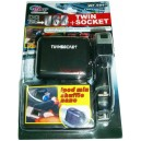 Двугнездов разклонител WF-0097 за авто запалка с USB