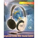 Динамични стерео-слушалки GD-198V ф30mm 32ohm с кабел 3,5м