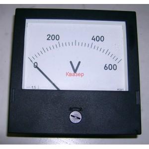 Щитови,  панелни аналогови волтметри М381 0-600VDC