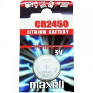 Бутонна батерия литиева CR2450 3V MAXELL