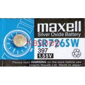 Бутонна батерия сребърна SR726 SW 196/396/397/AG2/SR59 1.55V MAXELL