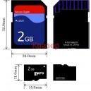 micro SD Card (SDHC) 2GB с SD адаптер