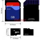 micro SD Card (SDHC) 4GB с SD адаптер