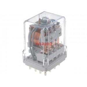 Реле R15 12VDC, 10A/250VAC, 10A/24VD, 4PDT RELPOL