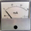 Амперметър  0-60mA DC МР80  аналогов  панелен 80x80mm