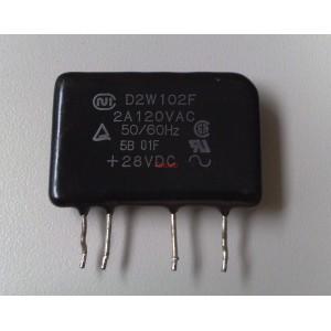 Електронно реле D2W102F - SSR, 2A, 120VAC