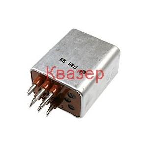 Реле РЭН 29 РФ4.519.063-04-04 бобина 12VDC, 2 превключващи контакта