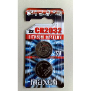 Бутонна батерия литиева CR2032 3V MAXELL 2бр.