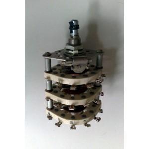 Ротационен галетен превключвател 5П6Н, 5 позиции, 6 секции порцелан, 36pin