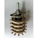 Ротационен галетен превключвател, 3 позиции, 18 секции порцелан, 48pin