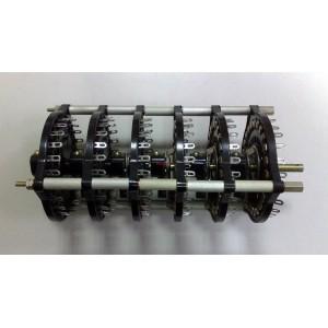 Ротационен галетен превключвател, 24 позиции, 6 секции, 25x6pin