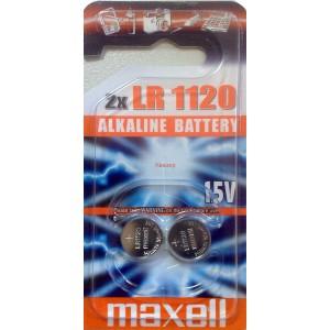 Бутонна микроалкална батерия LR1120 191/381/391/AG8/LR55 1.5V 2бр.