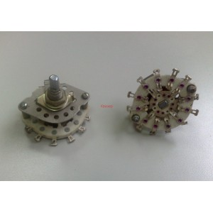 Ротационен галетен превключвател 2П4Н, 2 позиции, 4 секции, 4x3pin