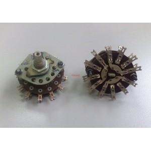 Ротационен галетен превключвател 3 позиции, 6 секции, 6x4pin