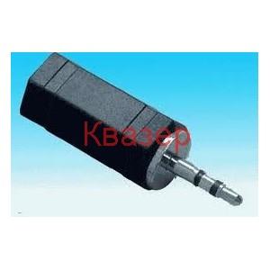Прекодник 2.5mm мъжки стерео жак към 3.5mm женски моно жак, GT1-1702A