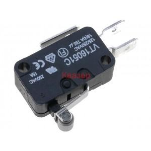 VT16051C - Микропревключвател с лост (с ролка), SPDT, 16A/250VAC, ON-(ON)
