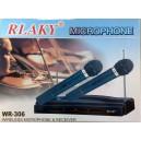 Безжични микрофони 2бр и приемник RLAKY  WR306