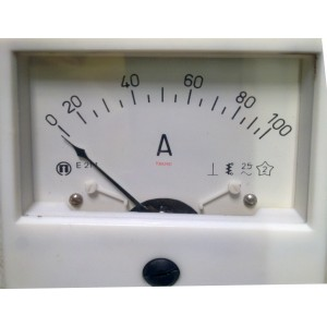 Амперметър 0-100А AC 80/80mm, E214