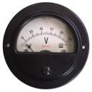 Волтметър 0-100V DC /3М31 аналогов панелен ф65мм