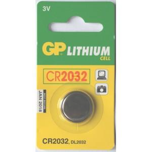 Бутонна батерия литиева CR2032 3V GP