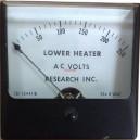 Волтметър 0-250V AC аналогов панелен 80x80mm Research Inc