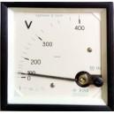 Волтметър 0-400V AC аналогов панелен 96x96mm Э350