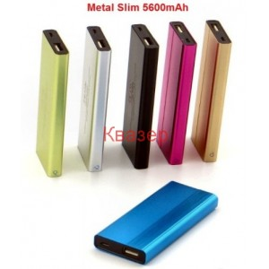 Външна батерия 5600mAh Metal Slim