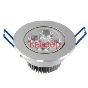 Светодиодна лампа тип луна 4x1W топлобяла за окачен таван, к-т със захранване 230VAC