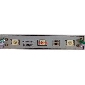 Светодиоден модул 3 LED, 0.5W, 12VDC зелена широкоъгълна светлина