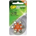 Батерия цинкова ZA13 6бр. бутонни за слухов апарат в GP
