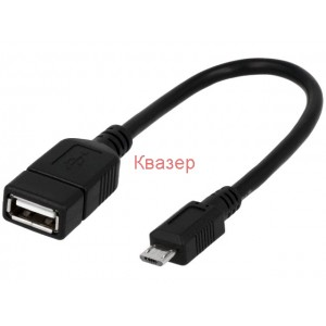 Кабел USB(F) към Micro USB(M) 20cm. OTG LOGILINK