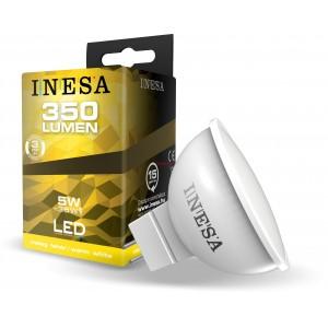 LED лампа Ф50 MR16 GU5.3 12V 5W 350lm 3000K 38гр. INESA
