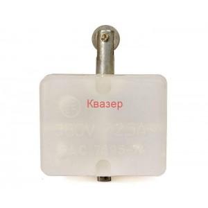 Краен изключвател КБР-11, SPDT-NO+NC, 2.5A/380VAC, щифт с ролка