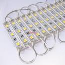 Светодиоден модул 3 LED smd5050, 0.5W 12VDC студено бяла светлина