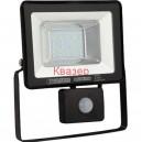 068-004-0020 Светодиоден прожектор със сензор за движение SMD LED20W 1000Lm  6400K IP65 220V черен