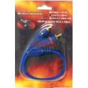 Y-кабел 2 чинча (мъжки) - 1 чинч (женски) , син, силиконов, 0.2М