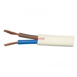 КАБЕЛ ШВПС 2Х1.00кв.мм. бял кръгъл / H05VV-F 2x1rm .3/.5 kV