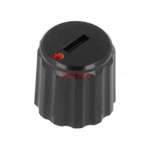 GC6M-11X10 Копче за потенциометър, миниатюрно, черно, пластмасово, ост ф6mm
