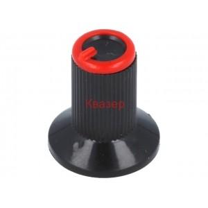 GTC6M-18X19-C Копче за потенциометър, миниатюрно, черно, пластмасово, ост ф6mm