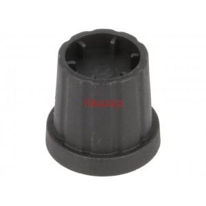 21-4S Копче за потенциометър, миниатюрно, черно, пластмасово, ост ф4mm