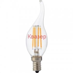 001-014-0004 крушка FILAMENT LED пламък Е14 4W 2700K 320Lm 220-240V