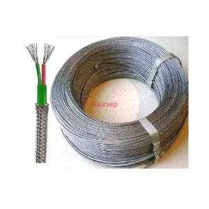 K тип NiCr-Ni 2x0.22 mm2 PTFE КАБЕЛ удължителен, компенсационе