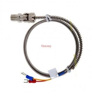 K0.6mm type NiCrNi байонет Ф14/12mm+8m кабел термодвойка 400°С изолирана