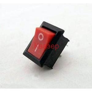 Ключ KCD101-1 ON-ON 250V/6A червен