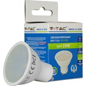 VT-1933 LED лампа GU10 220-240V 3W 210lm 3000K